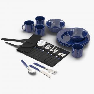 Camping Dishes and Utensils 3D