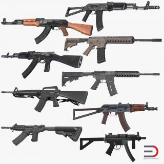 3D model Assault Rifles Collection