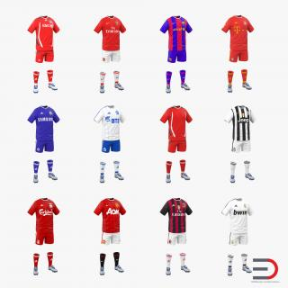 3D model Soccer Clothes Collection