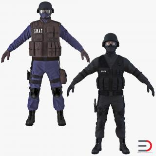 3D SWAT Policemans Collection 2 model