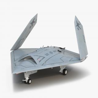 Northrop Grumman X-47B UAV Folded Wings 3D model