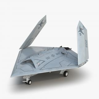 3D Northrop Grumman X-47B UAV Rigged model