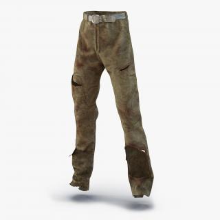 3D model Old Dirty Work Pants