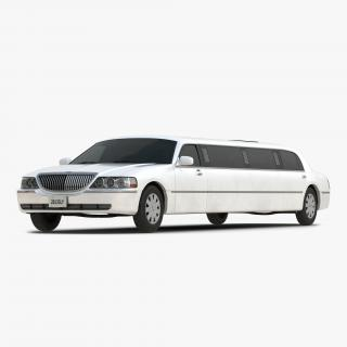 Generic Limousine White Simple Interior 3D model
