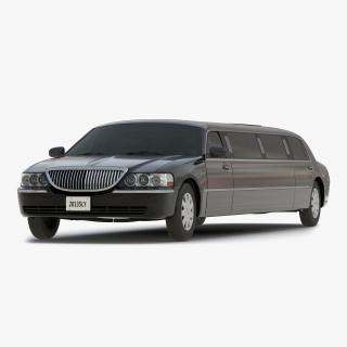 Generic Limousine Black Simple Interior 3D model