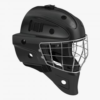 Hockey Goalie Mask Generic Black 3D