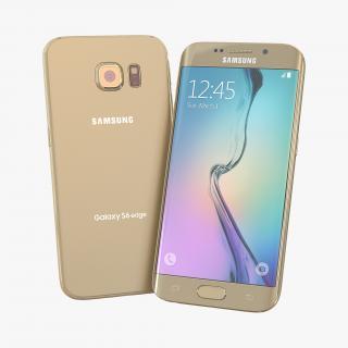 3D Samsung Galaxy S6 Edge Platinum