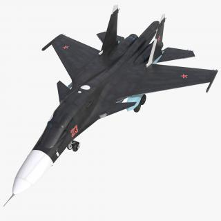 3D Russian Air Force Su-34 model
