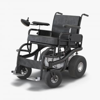 3D model Powered Wheelchair Rigged