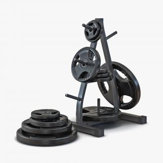3D Weight Plate Tree Set