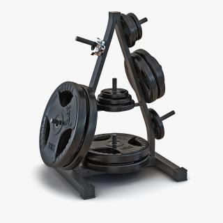 3D Weight Plate Tree Set 2 model