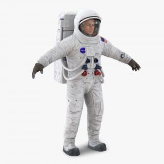 3D Astronaut NASA Wearing Spacesuit A7L