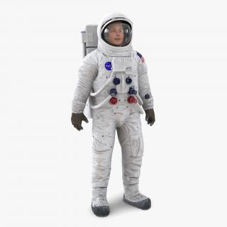 3D Astronaut NASA Wearing Spacesuit A7L Rigged model