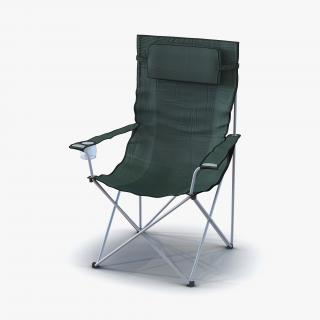 3D Outdoor Folding Chairs Collection model