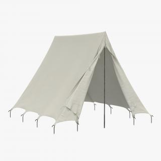 Vintage Camping Tent 2 3D