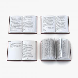 Open Books Set 3D model