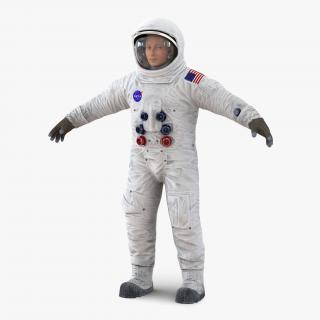 3D Astronaut NASA Wearing Spacesuit A7L 2 model