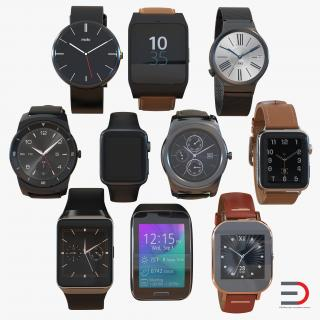 3D Smartwatches Collection model