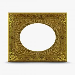 3D Baroque Picture Frame 4 model