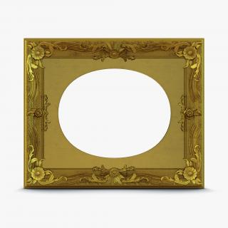 3D Baroque Picture Frame 7 model