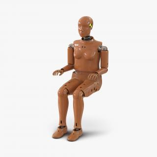 3D Female Crash Test Dummy model