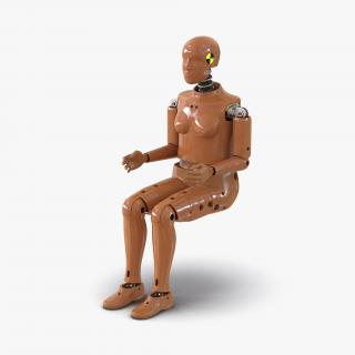 3D model Female Crash Test Dummy Rigged