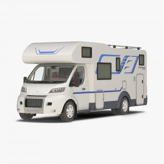 3D Tag Axle Motorhome model