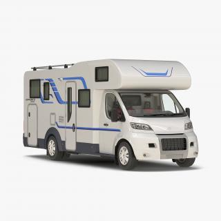 Tag Axle Motorhome Simple Interior 3D model