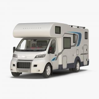 3D Tag Axle Motorhome Simple Interior 2