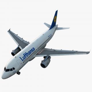 3D Airbus A319 Lufthansa