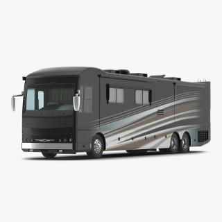 3D American Recreation Vehicle RV Simple Interior