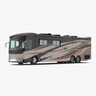 3D American Recreation Vehicle RV Simple Interior 2 model