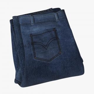 Jeans Folded 2 3D model