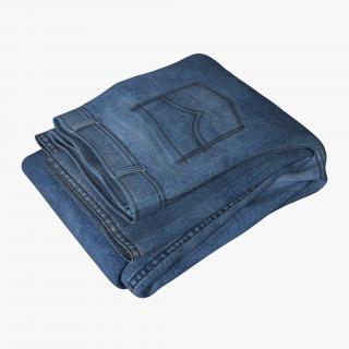 Jeans Folded 3 3D model