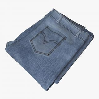 Jeans Folded 4 3D model