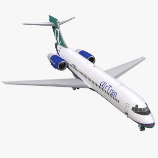 3D model Boeing 717 200 AirTran Airways
