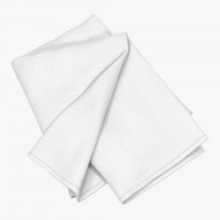 3D White Towel 6 model