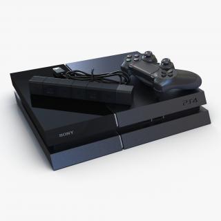 Sony PlayStation 4 Set 2 3D model