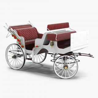 3D Wedding Carriage Rigged model