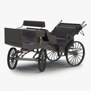 3D model Carriage Rigged