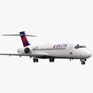 3D model Boeing 717-200 Delta Air Lines