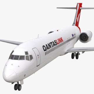Boeing 717-200 Qantas Airways 3D model