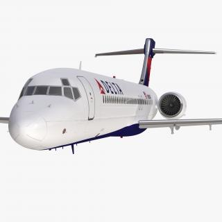 Boeing 717-200 Delta Air Lines Rigged 3D