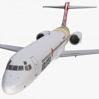 Boeing 717-200 Volotea Rigged 3D model