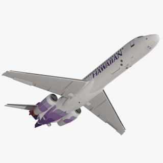 Boeing 717-200 Hawaiian Airlines Rigged 3D model