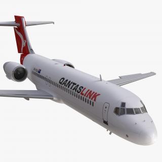 3D Boeing 717-200 Qantas Airways Rigged