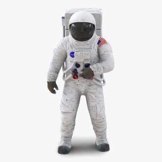 3D Astronaut NASA Wearing Spacesuit A7L Pose 2 model