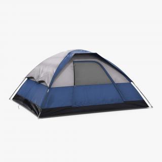 Camping Tent Blue 3D