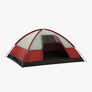 3D Dome Tent Red model