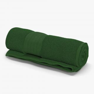3D Rolled Towel Green model